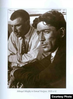 Mikayıl Müşfiq və Səməd Vurğun, 1935