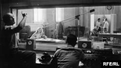 Първото студио на Радио Свободна Европа в Мюнхен, Германия