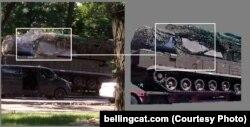 """Фото установки """"Бук"""", сделанное в Донецке в день, когда был сбит Boeing."""