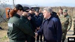 Đorđe Ivanov, predsjednik Makedonije u posjeti granici sa Grčkom