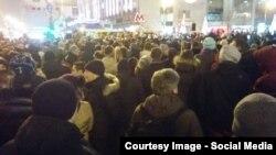 Акция протеста против платных парковок на Пушкинской площади 15 декабря 2015 года