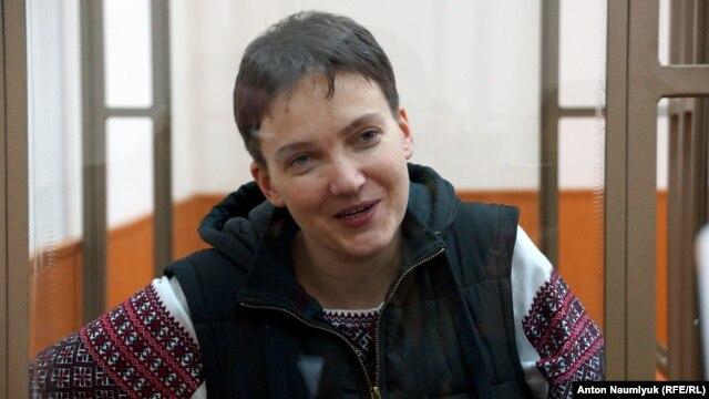 Jailed Ukrainian pilot Nadia Savchenko (file photo)