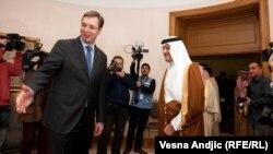 Saudijski princ Sultan bin Abdulaziz el Saud u Beogradu sa premijerom Aleksandrom Vučićem, 5. novembar 2015, foto: Vesna Anđić