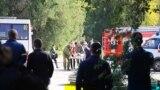 Біля Керченського політехнічного коледжу після нападу, 17 жовтня 2018 року