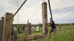Автентична викиншка изградба на мост во Данска