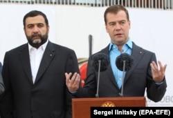 Ruben Vardanyan alături de Dmitri Medvedev