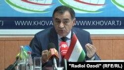 Глава Комитета по чрезвычайным ситуациям и гражданской обороне при правительстве Таджикистана Рустам Назарзода, 23 июля 2020 года