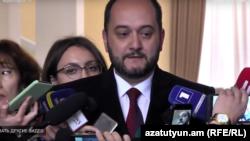 Министр образования и науки Араик Арутюнян, Ереван, 21 февраля 2019 г.