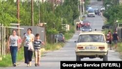 Соғыстың салдарынан көшуге мәжбүр болған тұрғындар шоғырланған Церовани елді мекені. Грузия, тамыз 2018 жыл.