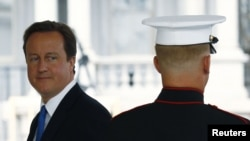 British Prime Minister David Cameron during a visit to the White House for a meeting with U.S. President Barack Obama in July