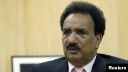 Pakistani Interior Minister Rehman Malik