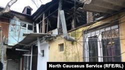 Дом после поджога