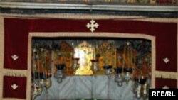 محل تولد عیسی مسیح در بیت لحم که با ستاره نقرای مشخص شده است.