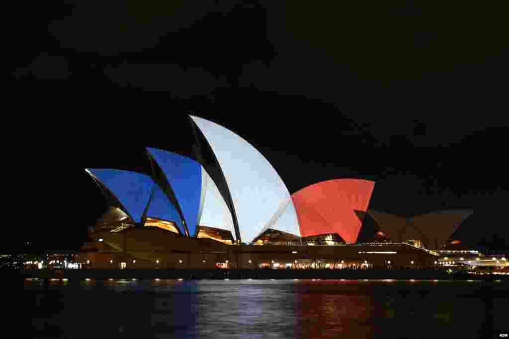 Здание Сиднейской оперы.