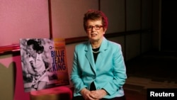 Former tennis player Billie Jean King is one of two openly gay athletes in the U.S. Olympic delegation to the Sochi Olympics.