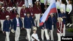 Делегация России на открытии ХХХ Олимпийских игр в Лондоне. 27 июля 2012 г