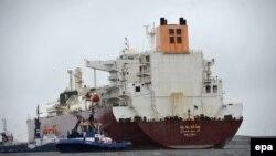 Польшага газ алып келген танкер. 2016-жылкы сүрөт.