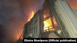 Пожар на Ошском рынке, 13 апреля 2018 г.