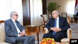 Mohamed ElBaradei və Lakhdar Brahimi