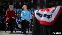 Ish kandidatja për presidente e SHBA-ve, Hillary Clinton dhe senatorja demokrate Elizabeth Warren