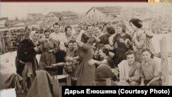 Деревенский праздник. Томская область. 1950-е годы