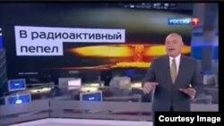 """Дмитрий Киселев в программе """"Вести недели"""" угрожает превратить США """"в радиоактивный пепел""""."""