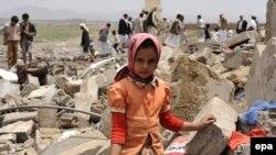Një vajzë e vogël në Jemen.