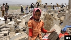 تخریب یک خانه در حمله هوایی ائتلاف به رهبری عربستان در یمن (عکس آرشیو)