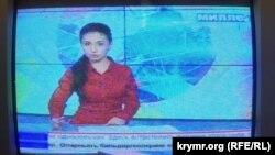 Кадр на пророссийском крымско-татарском телеканале «Миллет». 1 сентября 2015 года.