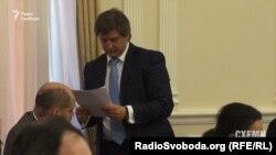 Олександр Данилюк отримав документи на засіданні 20 квітня