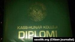 Uzbekistan - College diploma