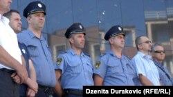 Protest policije u Bihaću, 3. juli 2015.