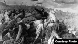 """С.Чуйковдун """"Кыргыз элинин 1916-жылдагы көтөрүлүшү"""" деп аталган сүрөтү"""