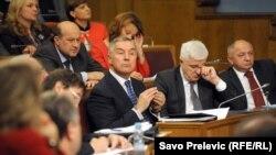 Premijer Đukanović u Skupštini 30. oktobra 2015.