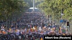 Марш в Барселоне против терроризма, 26 августа 2017