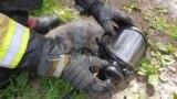 Пожарные спасли кота, пострадавшего при пожаре