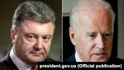 جو بایدن معاون رئیس جمهور امریکا و پترو پروشینکو رئیس جمهور اوکراین