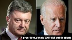 Petro Porošenko i Džozef Bajden