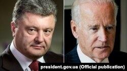Президент України Петро Порошенко (л) та віце-президент США Джозеф Байден