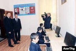 Prezident İlham Əliyev Goranboyda, 21 yanvar 2012