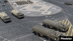 """Yerevanda """"İskander"""" raketləri"""