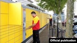 Эта самая большая станция по получению и отправке посылок Германии находится в Карлсруе. Длиннa 35 метров, 602 ячеек