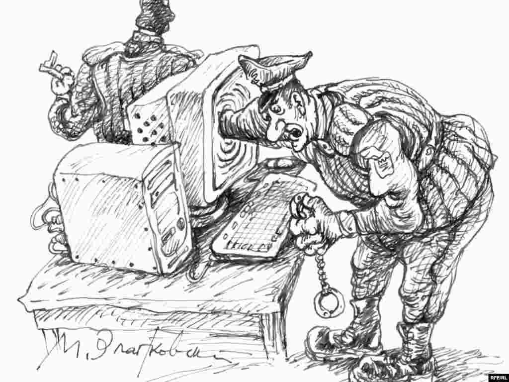 Михаил Златковский. ''WWW.Kaput''. Художник давно ждал, что правоохранительные органы займутся интернетом. И дождался.