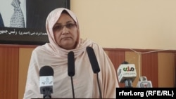 Sima Joyenda, the embattled governor of Afghanistan's Ghor Province. (file photo)