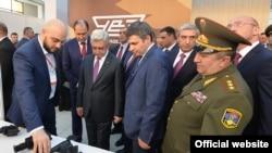 Президент Армении Серж Саргсян на открытии выставки «ArmHiTec–2018», Ереван, 29 марта 2018 г.