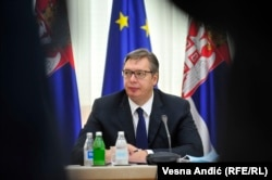 "Serbia President Aleksandar Vucic: ""The people from Pristina, everything they do, they do for domestic politics."""