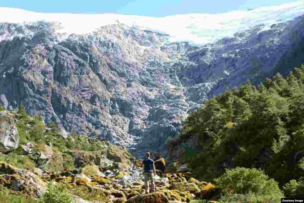 Ледник в Патагонии, Чили, Южная Америка