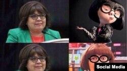 Примеры карикатур на законодательницу из мексиканской блогосферы