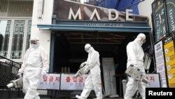 Dezinfekcija ulica i klubova u Seulu, 12. maj