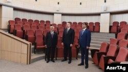 İ.Əliyev SOCAR-ın Bakı Ali Neft Məktəbinin yeni kampusunun açılışında. 1 may 2017